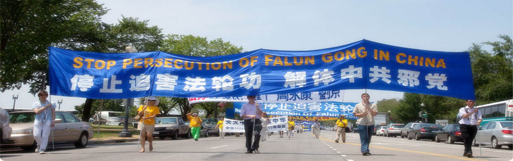 Falun Gong Practitioners peaceful effort  raises people&amp;#039;s awareness about the persecution which has been carried out for 13 years by the Chinese Communist Party (CCP)